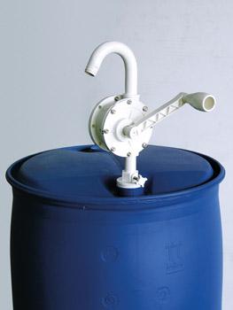 """Pompe manuelle rotative en plastique pour transférer l'urée, de la batterie, avec crochet bec Ø 1 """""""