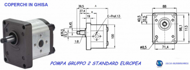 Pompe hydraulique Groupe 2 12cc A22X A25X