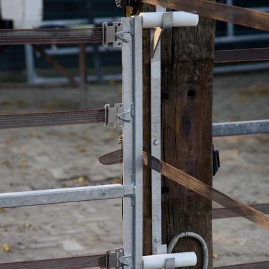 Weidetor verstellbar mit Stromführung