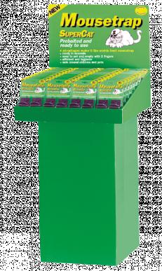Mausefalle SuperCat - Display mit 40 Kartenà 2 Stück