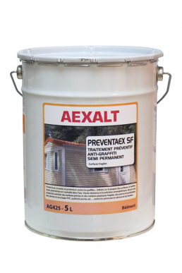 Traitement préventif anti graffiti PREVENTAEX SF Semi permanent - Bidon 5 L
