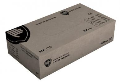 Protecfina Boite de 100 Gants jetables alimentaires Latex Blancs