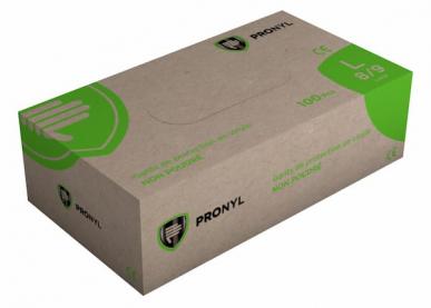 Protecfina Pronyl Boite de 100 Gants jetables Vinyle non poudrés