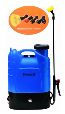 Pulvérisateur, Arroseur, Pompe de pulvérisation avec batterie rechargeable 12V 16lt. épaule/sac à dos - Mod. B