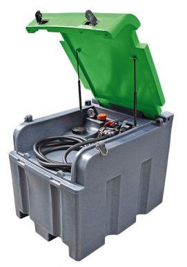 Mobiltank 400 l für Diesel, inkl.: Pumpe E3000 12V, autom. Zapfpistole, ohne Zählwerk, Deckel