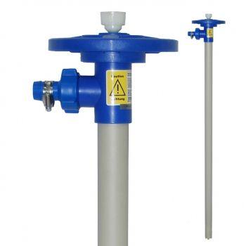 Pumpwerke aus PP, Welle Edelstahl für Fasspumpen Ø 41 mm Rotor, Tauchrohrlänge 700mm