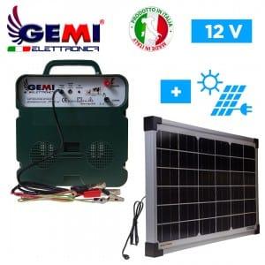 Clôture electrique B12/2 extrafort avec panneau solaire