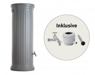 Regenwasserspeicher, Säulentank Komplett-Set 330 L