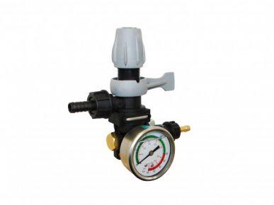 Druckregler für Membranpumpe MC 20 kplt. mit Manometer und 1 Ausgang