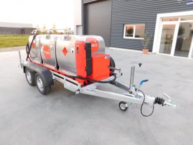 Remorque GRV Fill'n drive - 1350 litres -  Pompe éléctrique 12V sur batterie avec chargeur 220V - FD1350