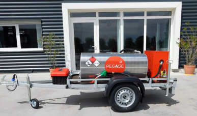 Remorque GRV Fill'n ride - 320 litres - Pompe manuelle - FR320 ouverte