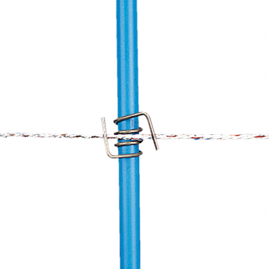 Ressort inox réglable, piquet PVC 13mm (10)