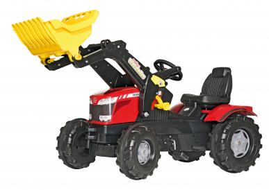 Tracteur à pédales avec chargeur Massey Ferguson ROLLY TOYS