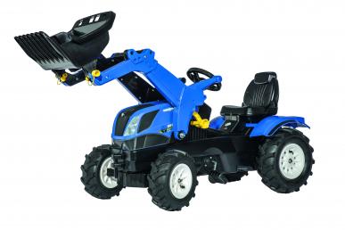Tracteur New Holland avec pneus souples et chargeur ROLLY TOYS