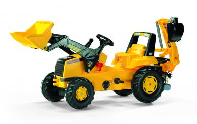 Tracteur CAT avec chargeur et pelleteuse Rollyjunior ROLLY TOYS