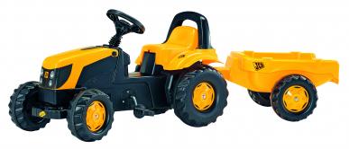 Tracteur RollyKid JCB avec remorque ROLLY TOYS