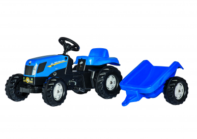 Tracteur RollyKid New Holland TVT 190 avec remorque ROLLY TOYS