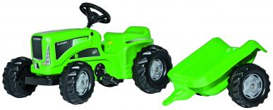 Tracteur RollyKiddy Futura + remorque ROLLY TOYS