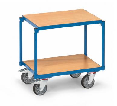 Rouleur à plateaux  Charge 250kg - Bleu - 2 plateaux - Sans rebord