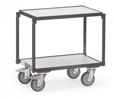 Rouleur de bacs  ESD - Charge 250kg - 2 plateaux avec rebord