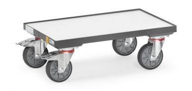 Rouleur de bacs  ESD - Charge 250kg - 3 plateaux - 1 bac Euro