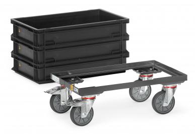 Rouleur de bacs  ESD - Charge 250kg - Armature ouverte