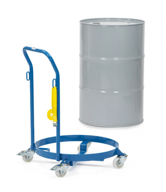 Rouleur de fûts  Charge 250kg - Diamètre 610mm - Barre de poussée