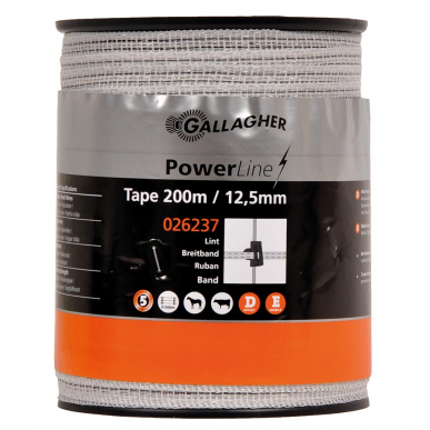 Ruban PowerLine 12,5mm blanc 200m