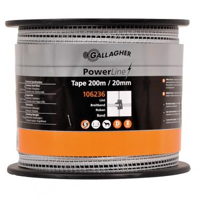 Ruban PowerLine 20mm blanc 200m