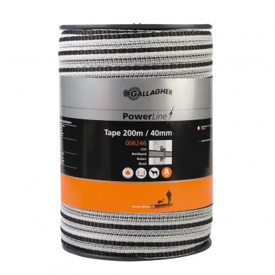 Ruban PowerLine 40mm blanc 200m
