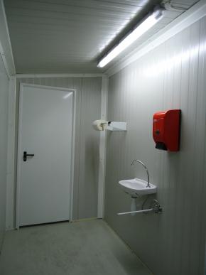 SAS sanitaire 3m² - Monté - AVEC ACCESSOIRE