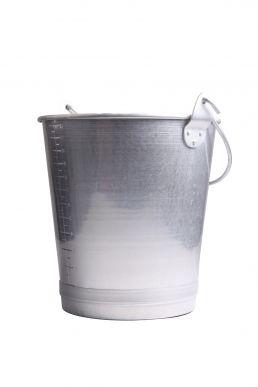 Seau en aluminium multifonction avec bec verseur 12 L