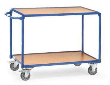 Servante  Charge 300 kg  - 2 plateaux  - Barre de poussée horizontale