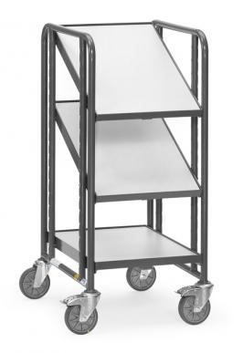 Servante  ESD - Charge 250kg - 3 plateaux bois - 1 bac Euro