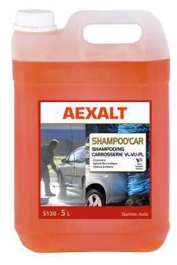 Shampooing carrosserie antistatique SHAMPOO'CAR Bidon 5 L