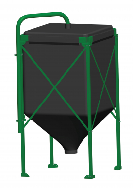 Silo Complet Vol: 14,6 m3 Toile UV+, Châssis 4 m