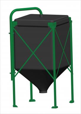 Silo Complet Vol: 33,5 m3 Toile UV+, Châssis 4,5 m