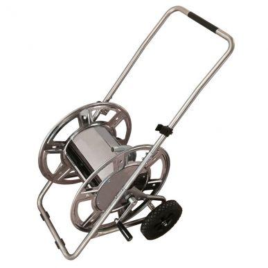 "Chariot à tuyau en acier inoxydable 3/4""."