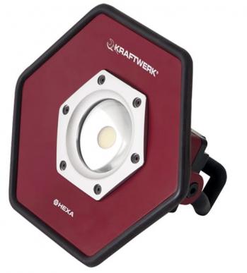 Spot industriel accu à LED COB 20W avec 3 niveaux d'intensité d'éclairage 25/50/100%
