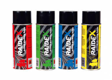 """Spray de marquage """"RAIDEX"""" bovin porc 400ml"""