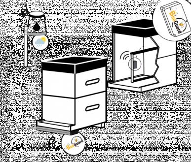 Station météo connectée+ Antivol GPS Ruche + Balance de ruche (1 barre pesage par ruche)