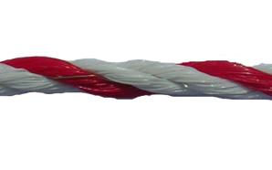 Super cordelette blanc rouge - 200m
