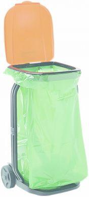 Müllbeutelhalter mit Deckel und Rädern