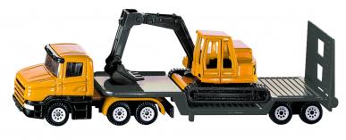 Camion Surbaissé avec excavatrice Siku