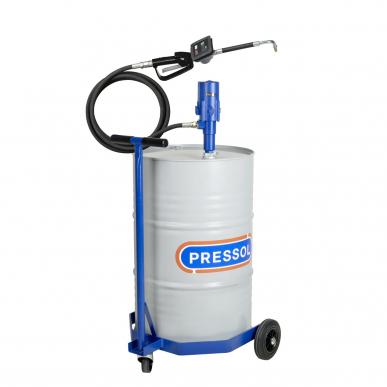 Ensemble huile pneumatique mobile pour fût 200L avec roule fût