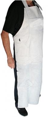 Tablier pour travaux de débroussaillage, 2 poches multi usages, matériau en cuir, longueur 130cm