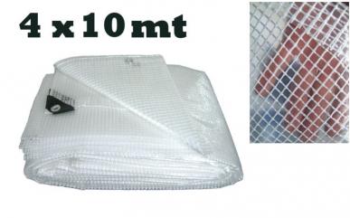 Toile en filet transparent avec coins renforcés - 4x5m