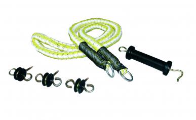 Kit portillon, avec 3 isolateurs ancre, une poignée et une corde textile de 5m de long