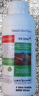 Traitement diesel - VS 5000 spécial GNR - traite 5000 litres, 1 litre