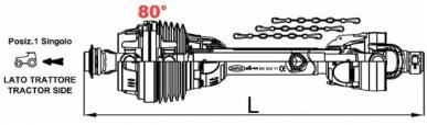 Transmission Prise de Force homocinétique simple AMA CAT.4 L 1000
